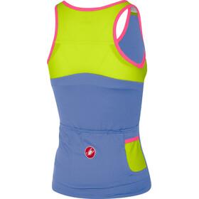 Castelli Solare Mouwloos Shirt Dames, blue/iris chartreuse